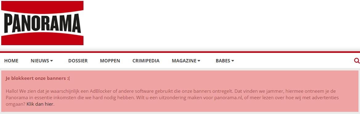 Block adblock