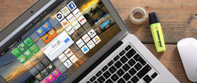 Symbaloo homepage op laptop